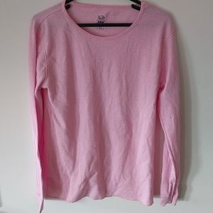 Fruit of the loom pink long sleeve